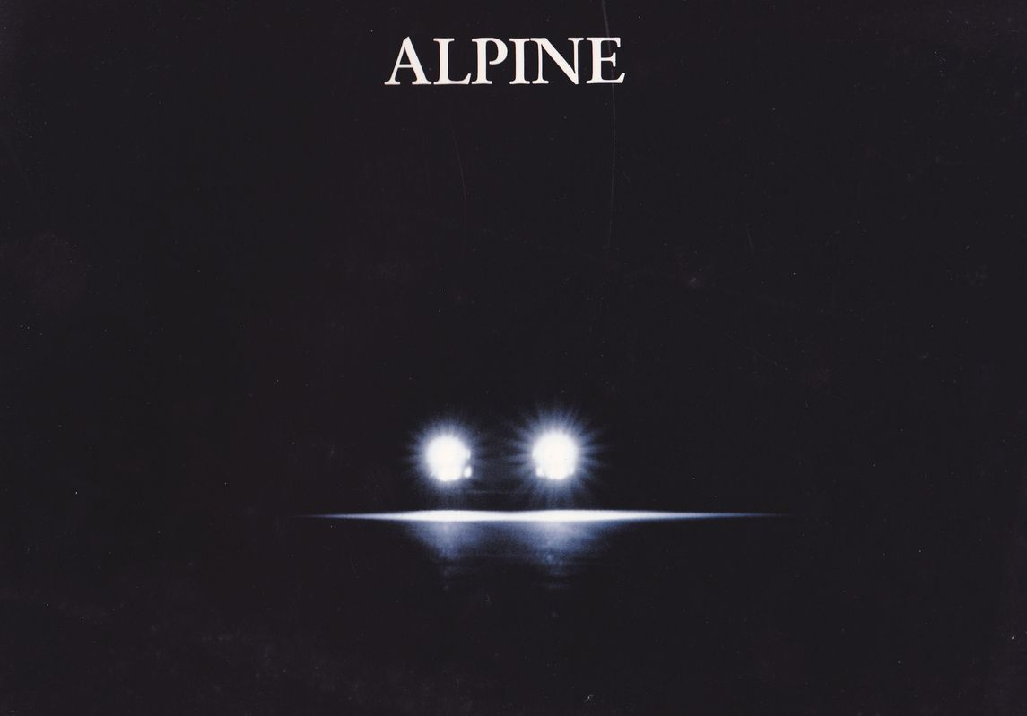 alpine a 610 turbo france catalogue de janvier 1992 0001 magazine carte postale prospectus. Black Bedroom Furniture Sets. Home Design Ideas