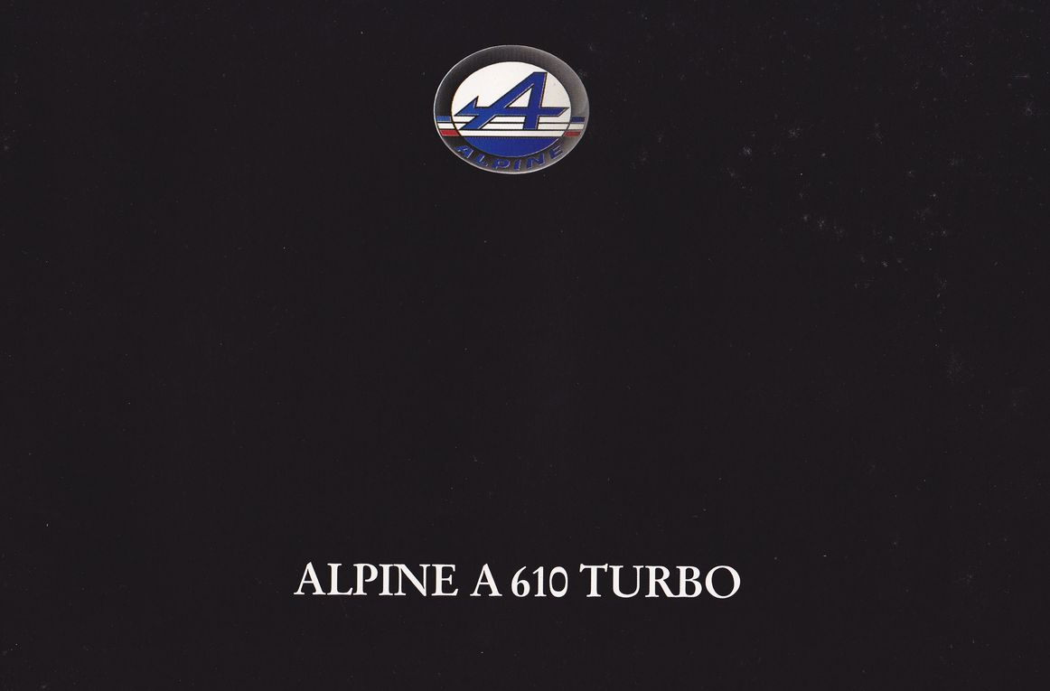 alpine a 610 turbo france catalogue de janvier 1992 0003 magazine carte postale prospectus. Black Bedroom Furniture Sets. Home Design Ideas