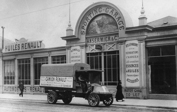 Garage renault ansermier a geneve en 1910 garage for Garage renault butry sur oise