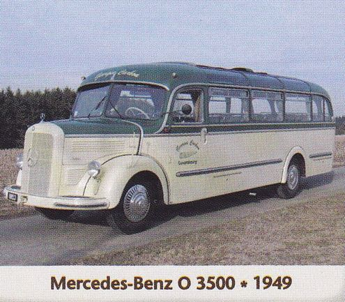 Mercedes Benz 0 3500 1949 Deutschland Bus Lkw Autobus