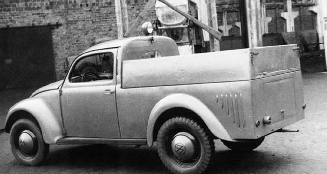 vw beetle pick up 1946 germany utilitaire camionette de livraison vw volkswagen. Black Bedroom Furniture Sets. Home Design Ideas